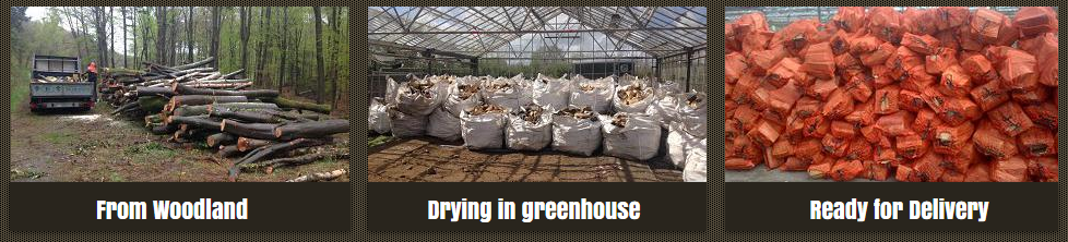 From Woodland to Greenhouse to dry and then ready for delivery.